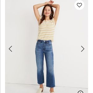 Madewell - Slim Wide Leg Cropped Jeans